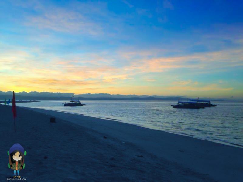 Sunset at Kalanggaman Island